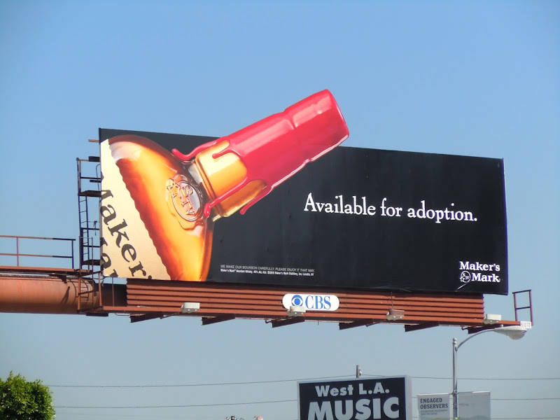 Maker's Mark Adoption billboard