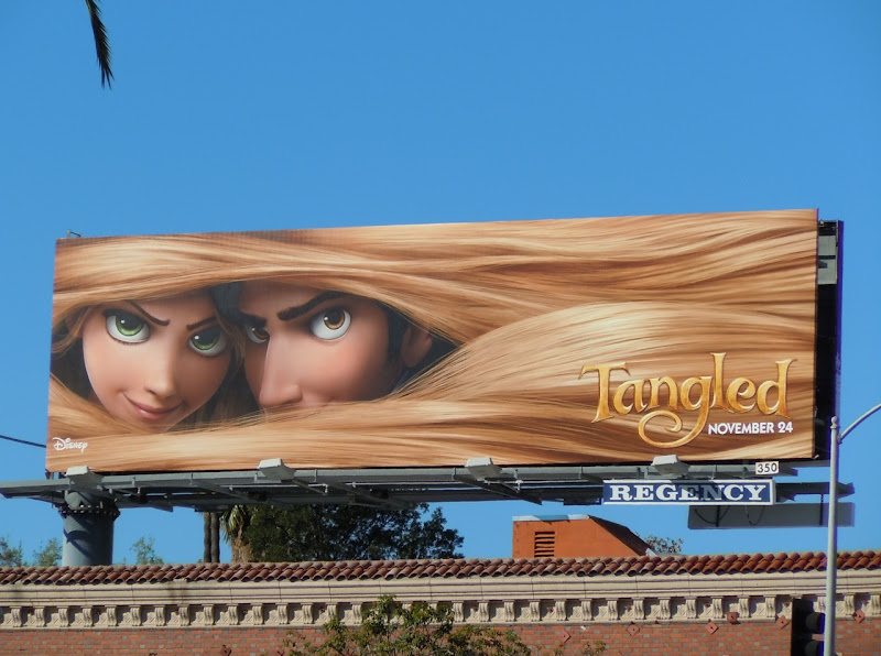 Disney Tangled movie billboard