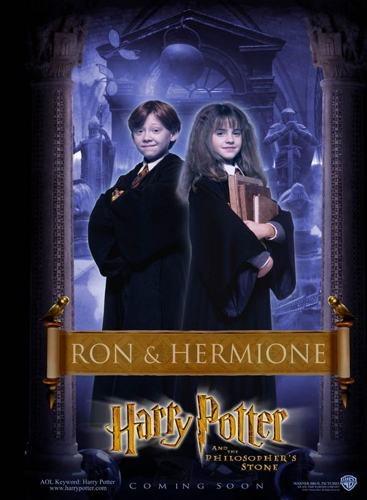 Ron and Hermione Harry Potter poster