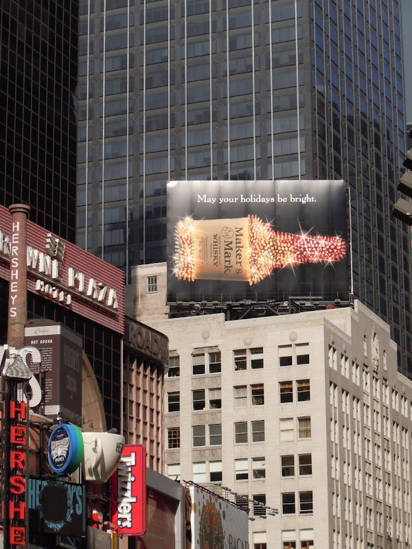 Maker's Mark Times Square Holidays billboard