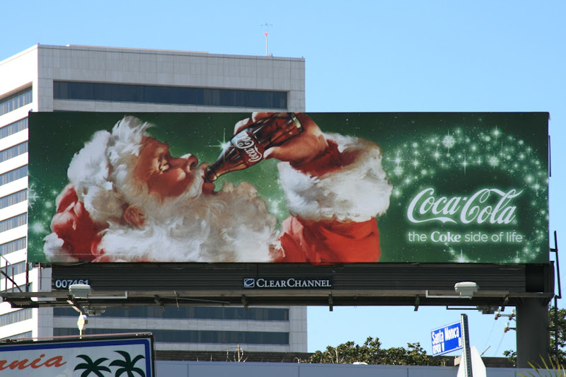 Santa Clause Coke billboard 2008