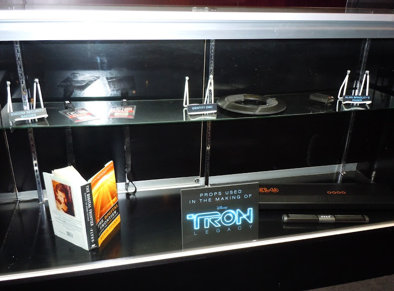 Tron Legacy movie prop display