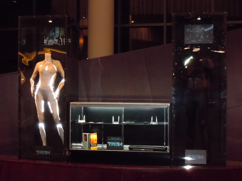 Tron Legacy movie costume and prop exhibit
