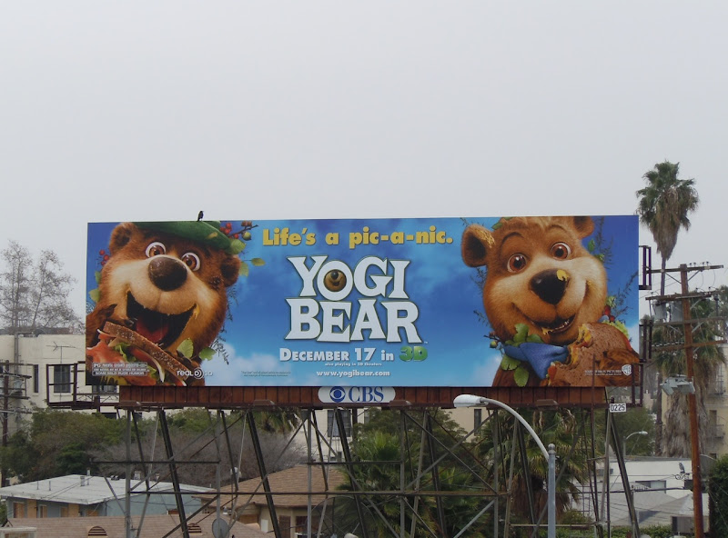 Yogi Bear and Boo Boo billboard