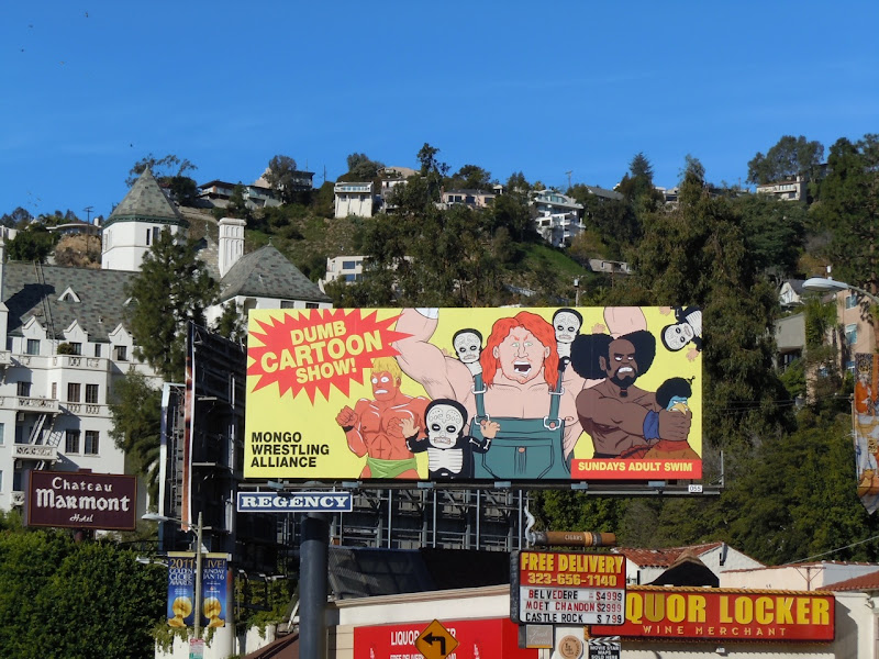 Mongo Wrestling Alliance TV billboard