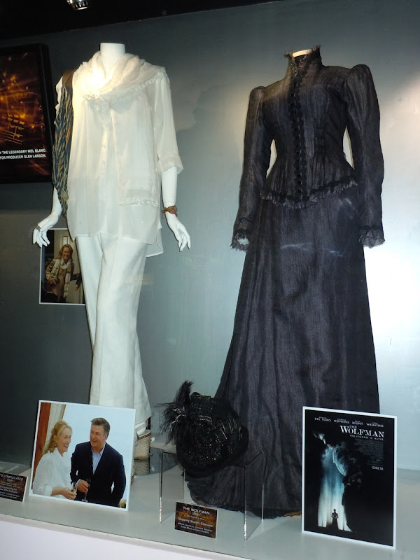 It's Complicated and The Wolfman costume display