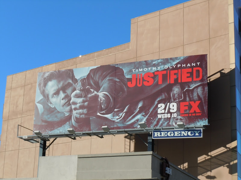 Justified season 2 TV bilboard