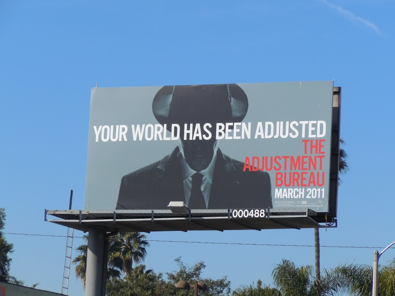 The Adjustment Bureau billboard