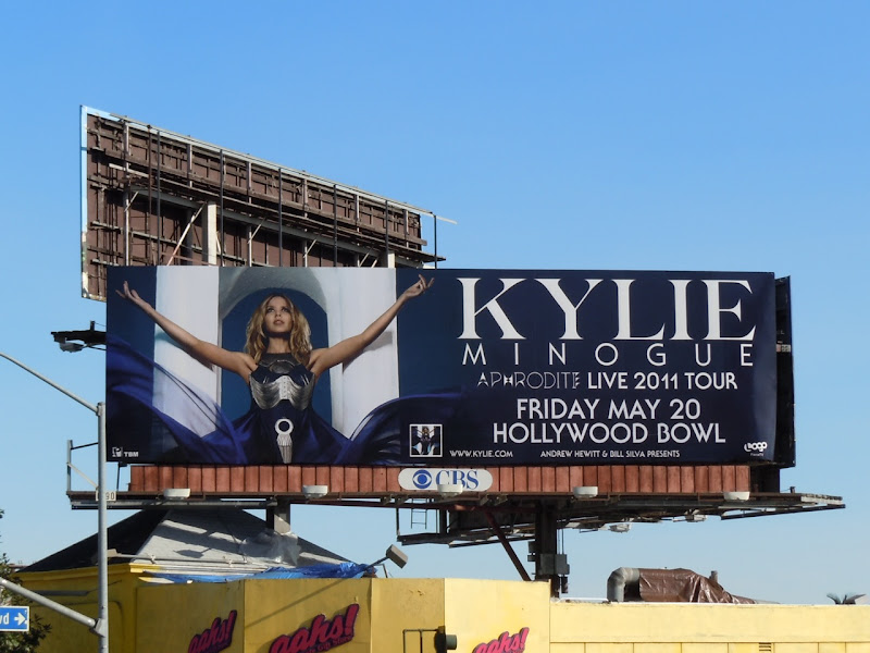 Kylie Aphrodite Tour Hollywood Bowl billboard