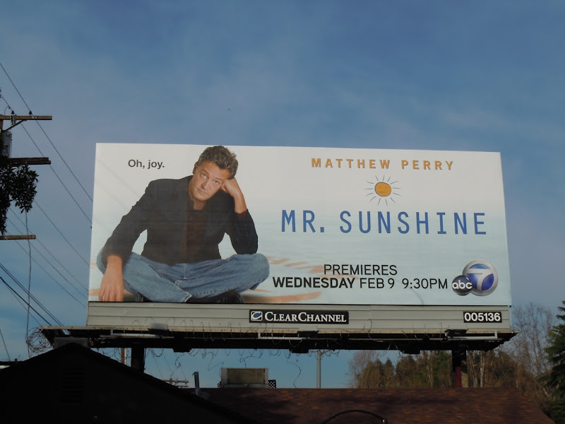 Matthew Perry Mr Sunshine TV billboard