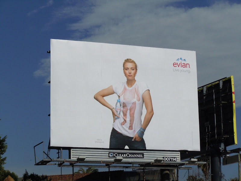 Evian Live Young water billboard