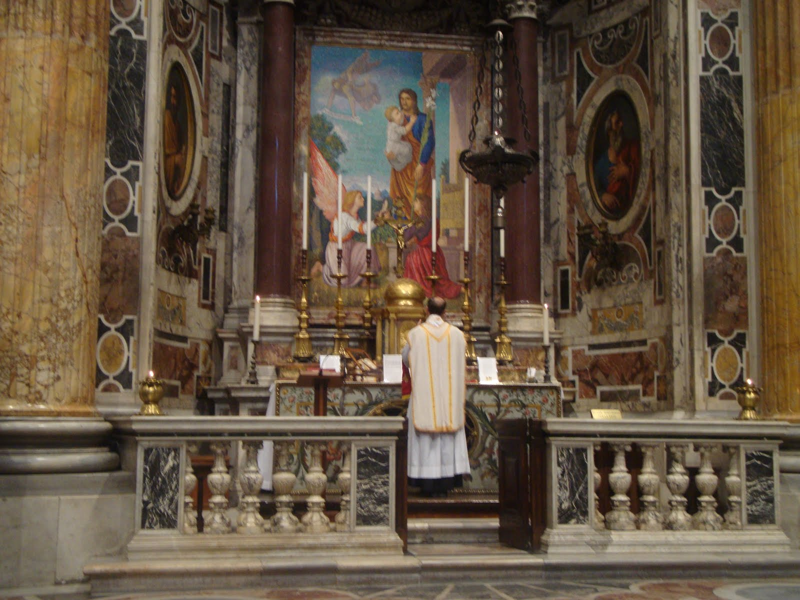 A Catholic Life Latin Mass on the Altar of St Joseph of