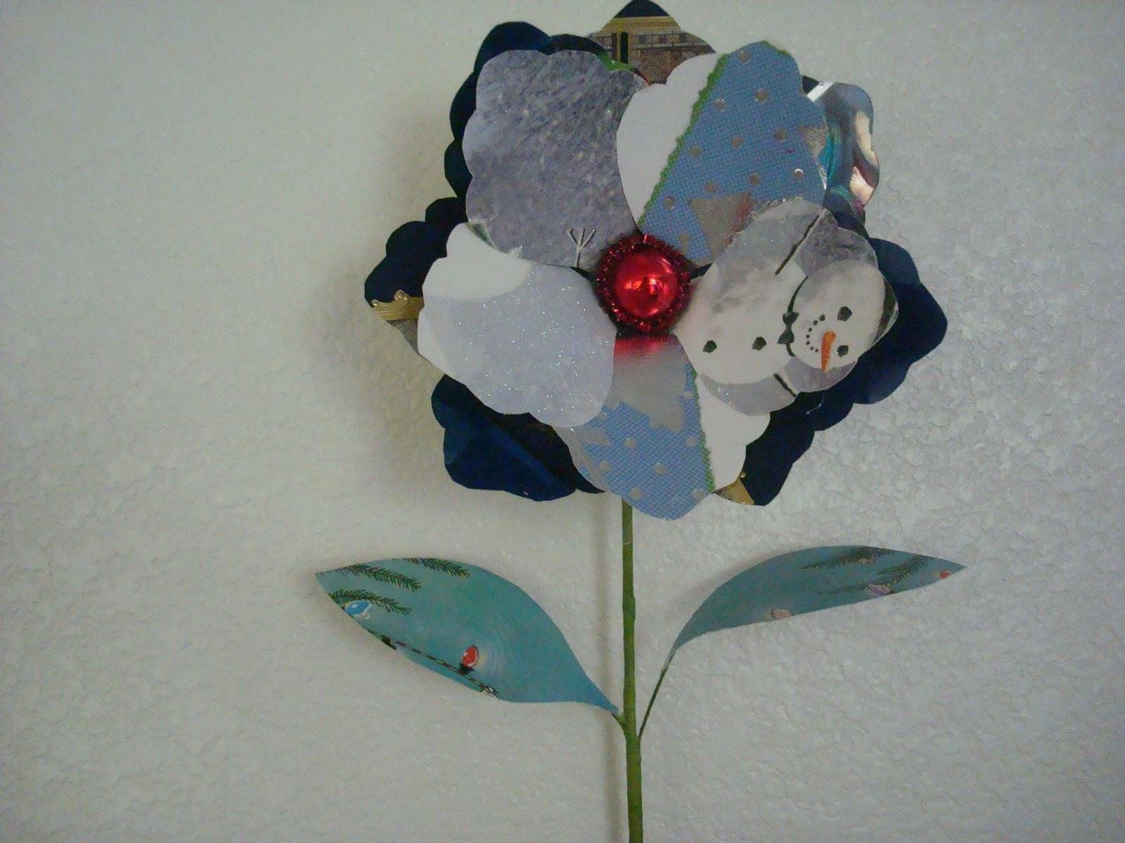Desde mi jardin como hacer flores con tarjetas de navidad - Como realizar tarjetas navidenas ...