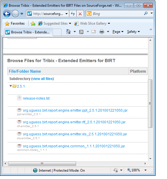 birt report engine runtime zip file