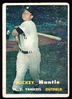 Mickey Mantle Baseball Cards 1957 Topps Mickey Mantle