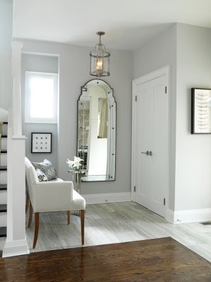 K co shades of gray - Small entryway paint colors ...