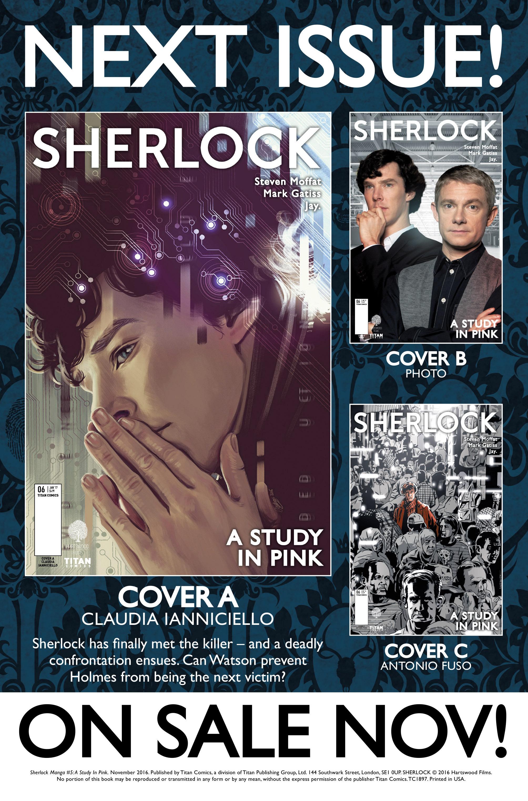 Read online Sherlock: A Study In Pink comic -  Issue #5 - 42