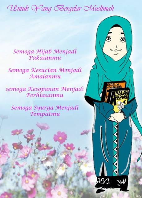 Gambar Muslimah Dengan Kata Bijak