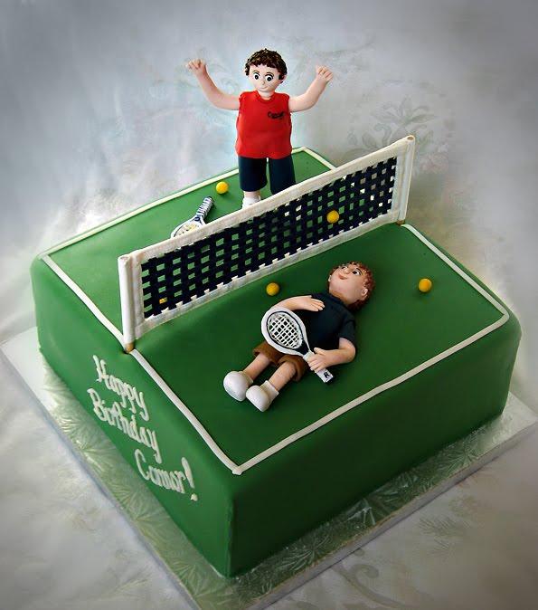 Happy Birthday Tennis Cake