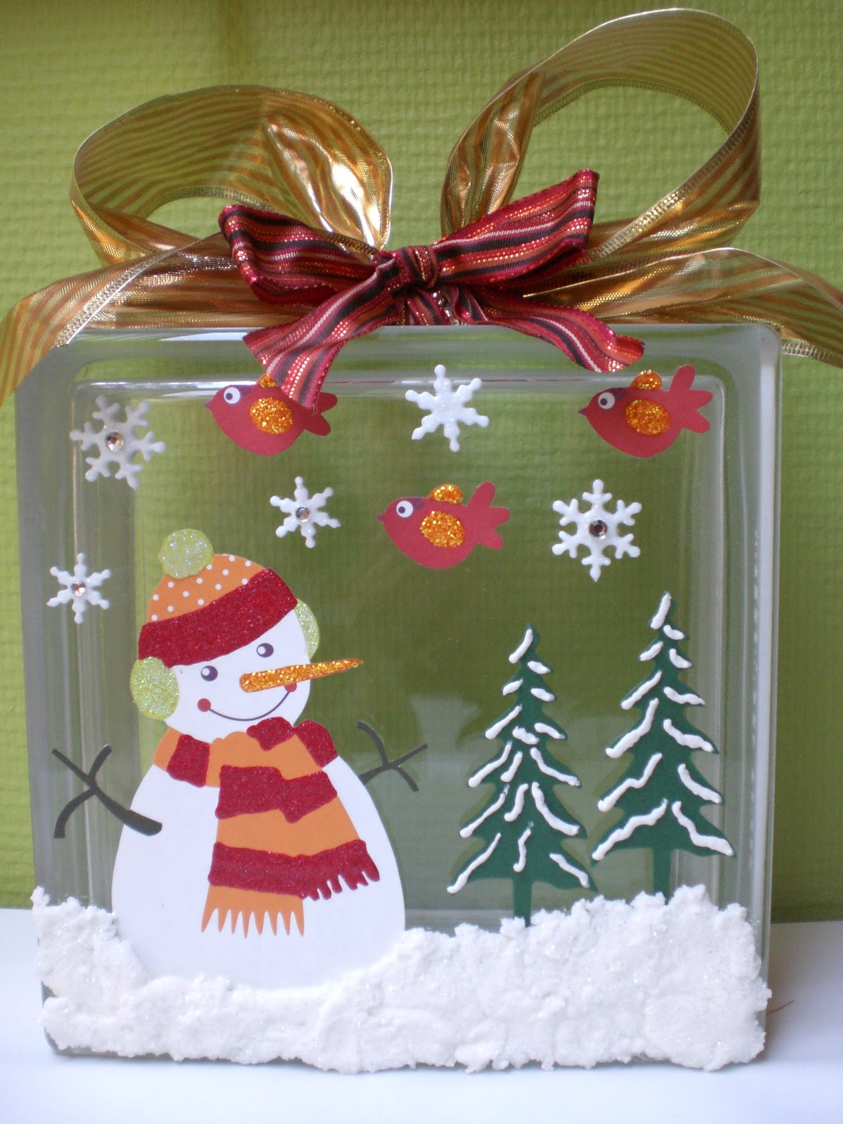 Deco Block Ideas This And That Glass Block Christmas Decoration