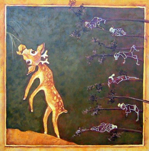 Resultado de imagen para El ciervo escondido Cuento Anónimo chino
