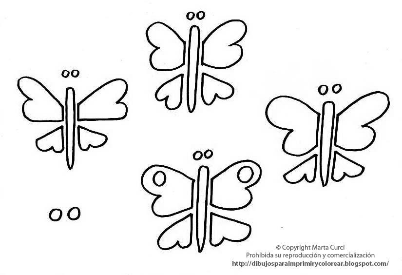 Dibujos Para Colorear E Imprimir De Mariposas: Dibujos Para Imprimir Y Colorear Pintar Imagenes Para