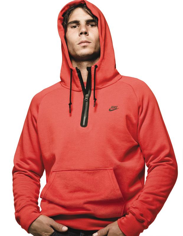 leeeena's blog: and rafael nadal models the AWW77 Nike hoodies