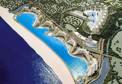 maior piscina do mundo 2 Maior piscina do mundo fica no Chile e tem 1km