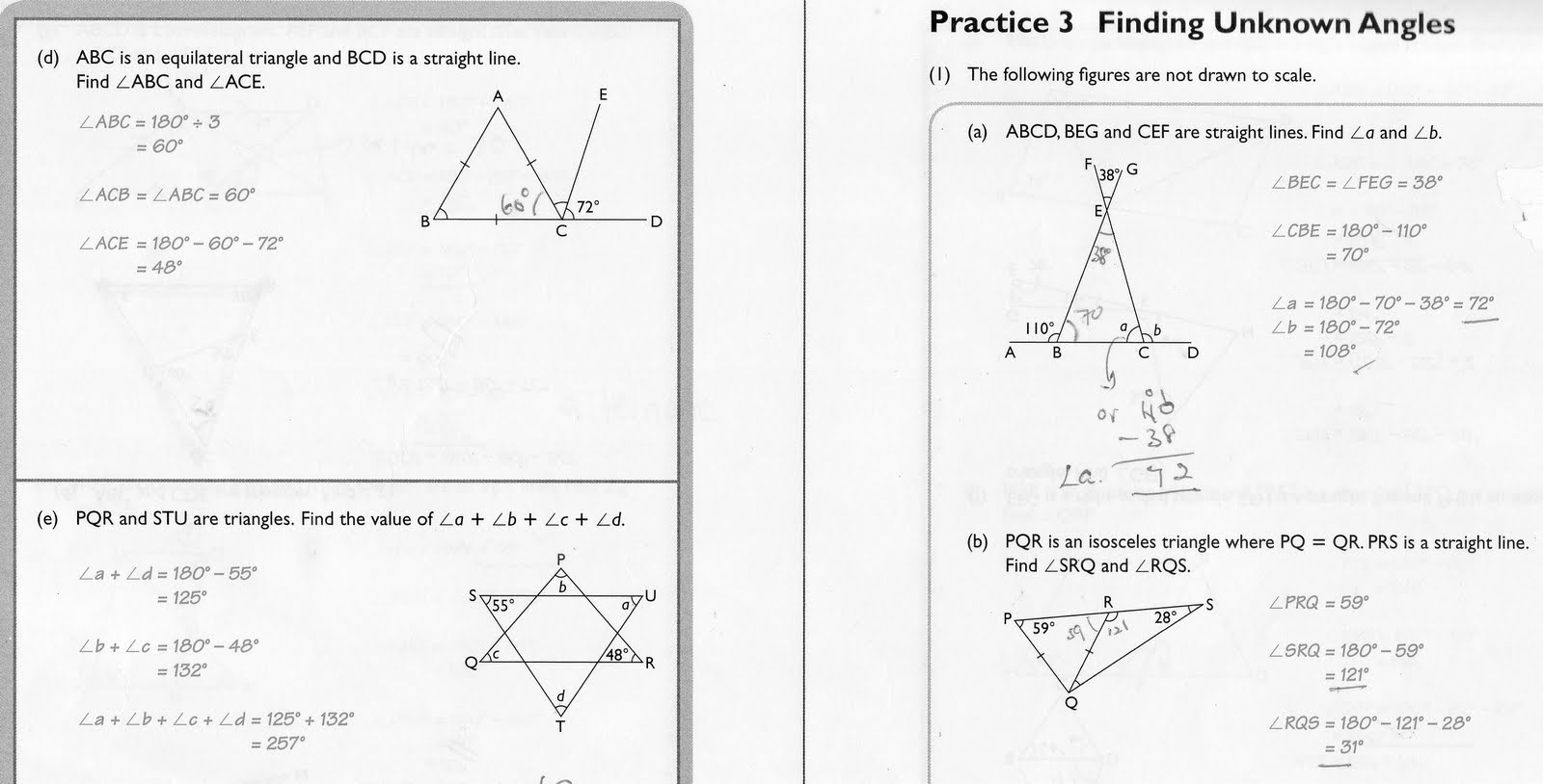Cckps 6e Finding Unknown Angles Practice 3