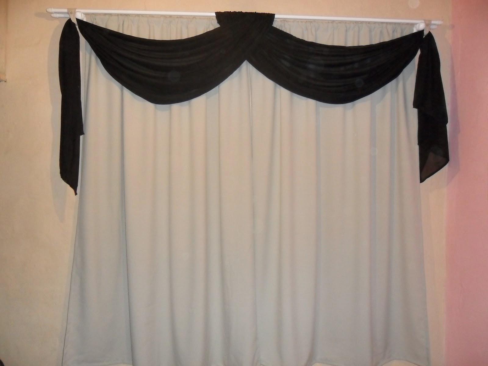 DECOARTDECORAOES cortinas oxford com bando musseline
