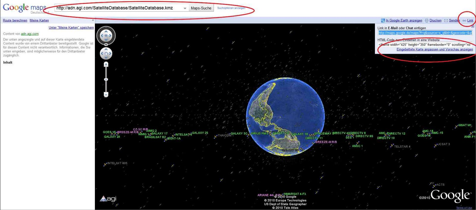 satellitenpositionen karte Satellitenpositionen Karte | Karte