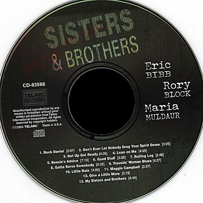 Las Galletas De Maria Eric Bibb Rory Block Maria Muldaur Sisters Brothers 2004 Us