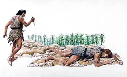 Resultado de imagen para Imagen Muerte de Abel por Caín
