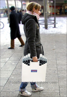 Diseño de bolsas para negocios con buen sentido del humor.