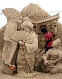 arte en arena, cultura china