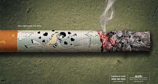 campaña de no fumar, arte digital