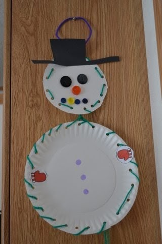 The Active Toddler Snowman Craft Amp Lacing Activity
