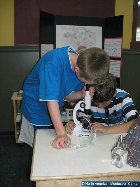 NAMC Montessori Inspired Age Appropriate Toys boys with microscope