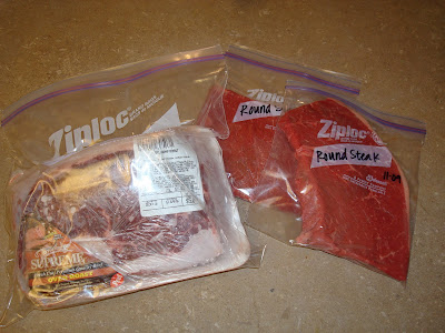 My Family Prepared Freezing Meat