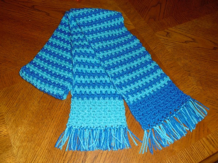 Rhea Sunshine Designs: Scarves for Special Olympics