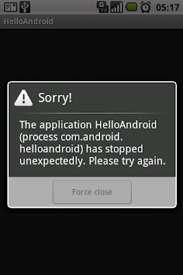 Hello Android Application Permission Error