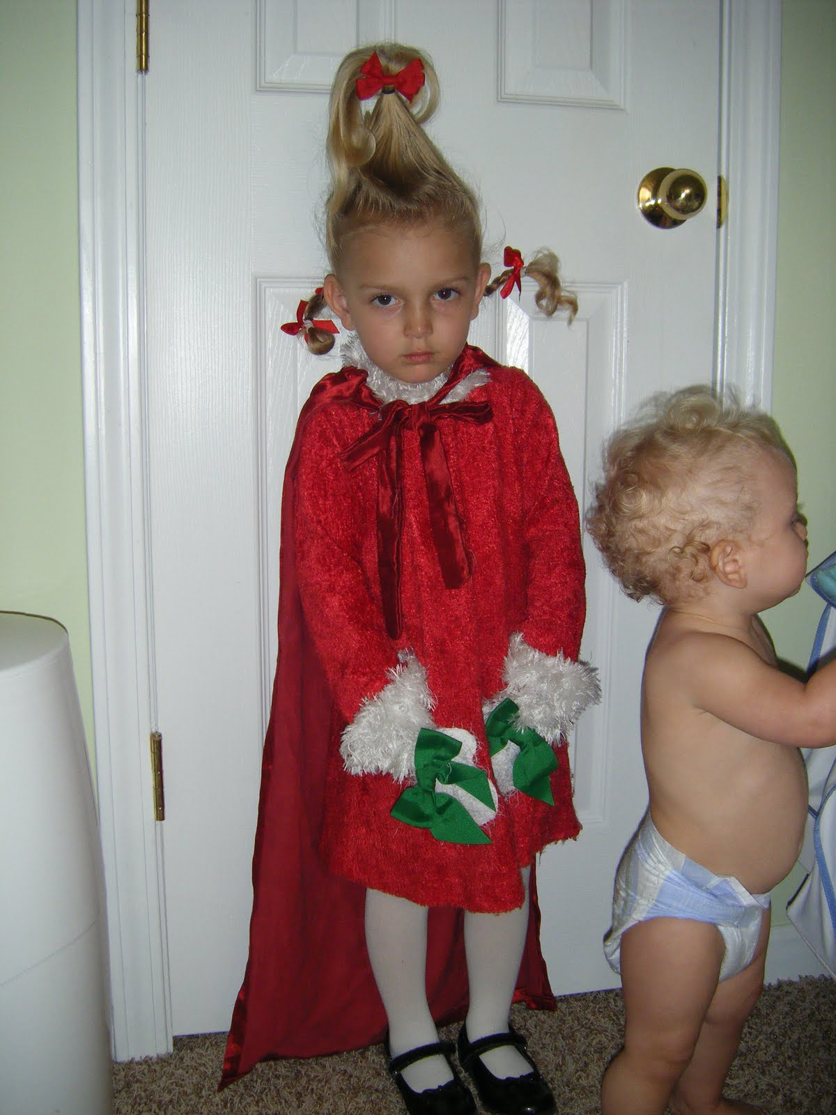 9381732646eb7 Grinch Child Costume & A Grinch Costume Character Reads A Dr. Seuss ...