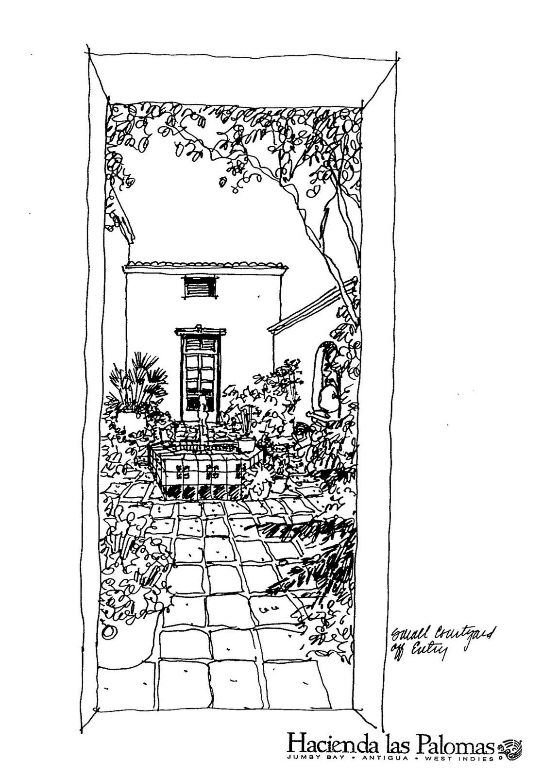 House Simple Sketch Landscape