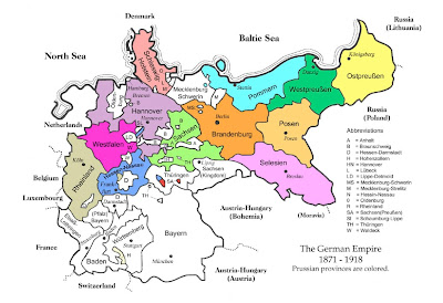 Map Of Germany 1871.Junghans Ancestry German Empire 1871 Through 1918