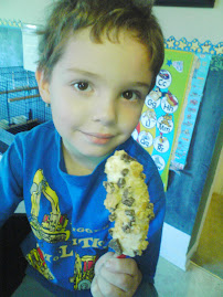 Monkey Treats:  Healthy Crunchy Granola Banana and Chocolate Chips on a Stick Recipe