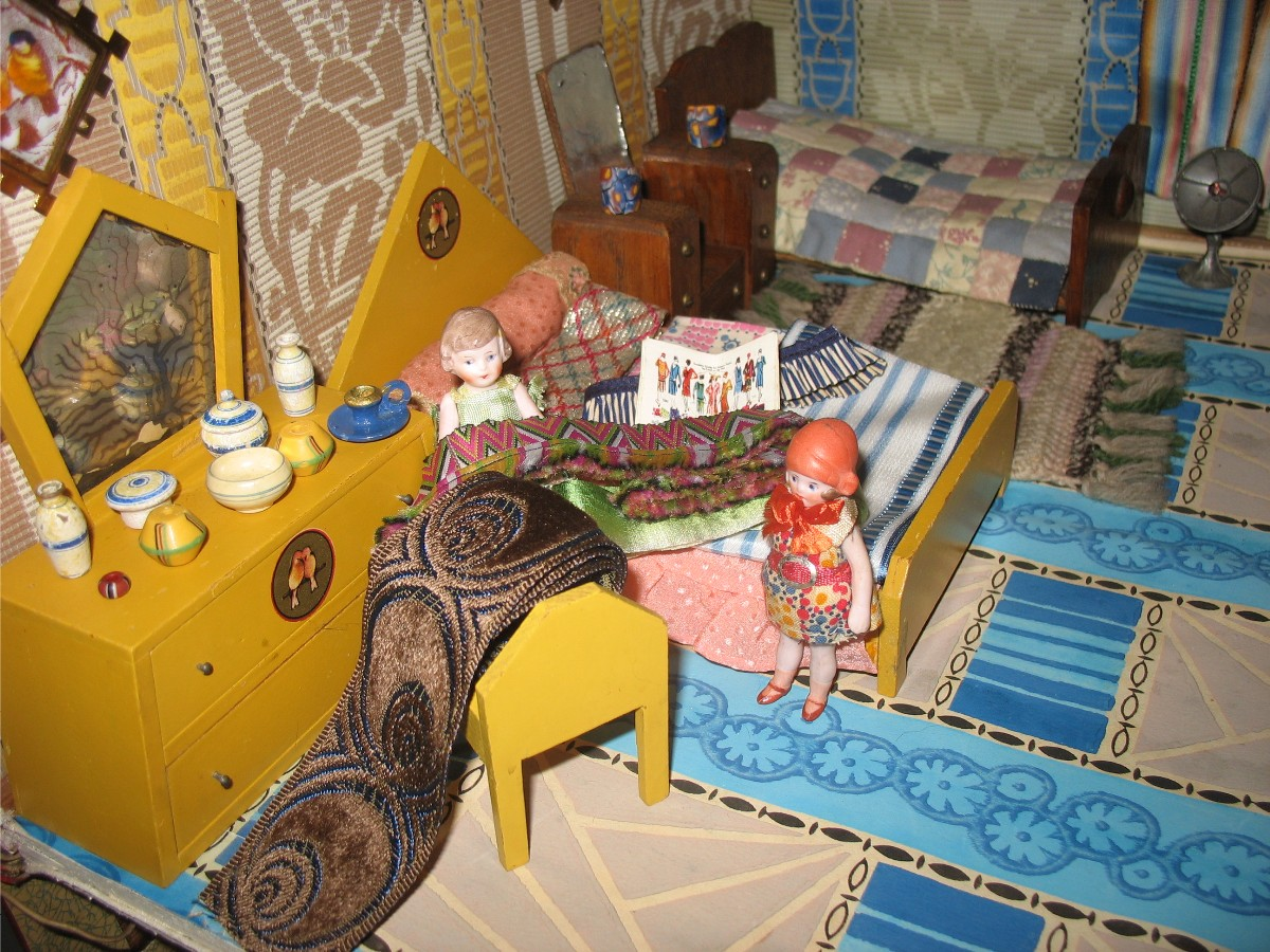 Rebecca S Collections Some Art Deco Dolls House Furniture