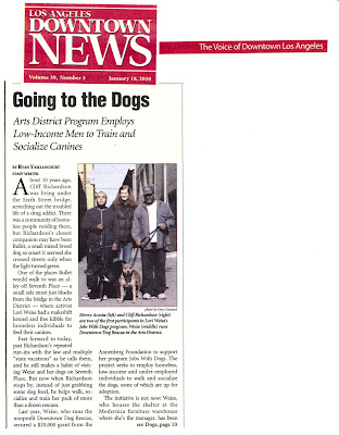 JOBS WITH DOGS – Los Angeles Downtown News Article