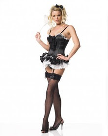 adult halloween costumes sexy french maid corset