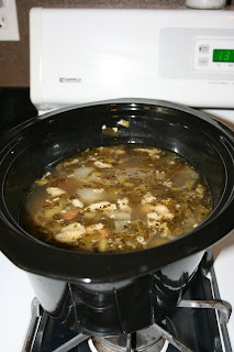let your chicken broth cool in the crockpot completely