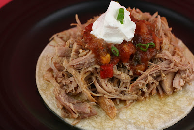 The best Carnitas recipe, ever. Made in the slow cooker, it uses fresh orange and lime juice and lots of cumin and garlic. YUM.